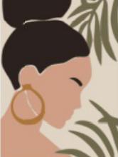 Quadro decorativo Eva moldura em pinus caixa 30 x 40