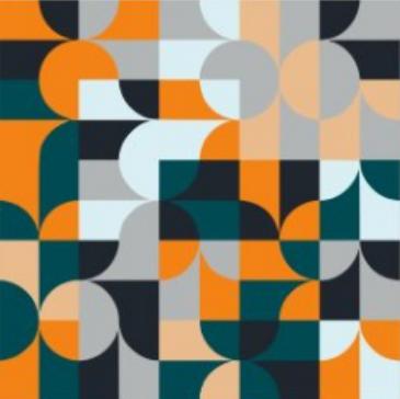 Quadro decorativo Ladrilhos colors moldura em mdf branca 43 x 43