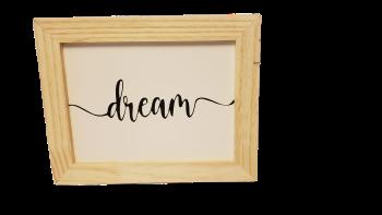 Quadro Dream em madeira
