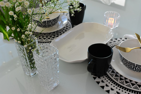 Travessa refrataria de porcelana New Bone 30,5x18x3,5