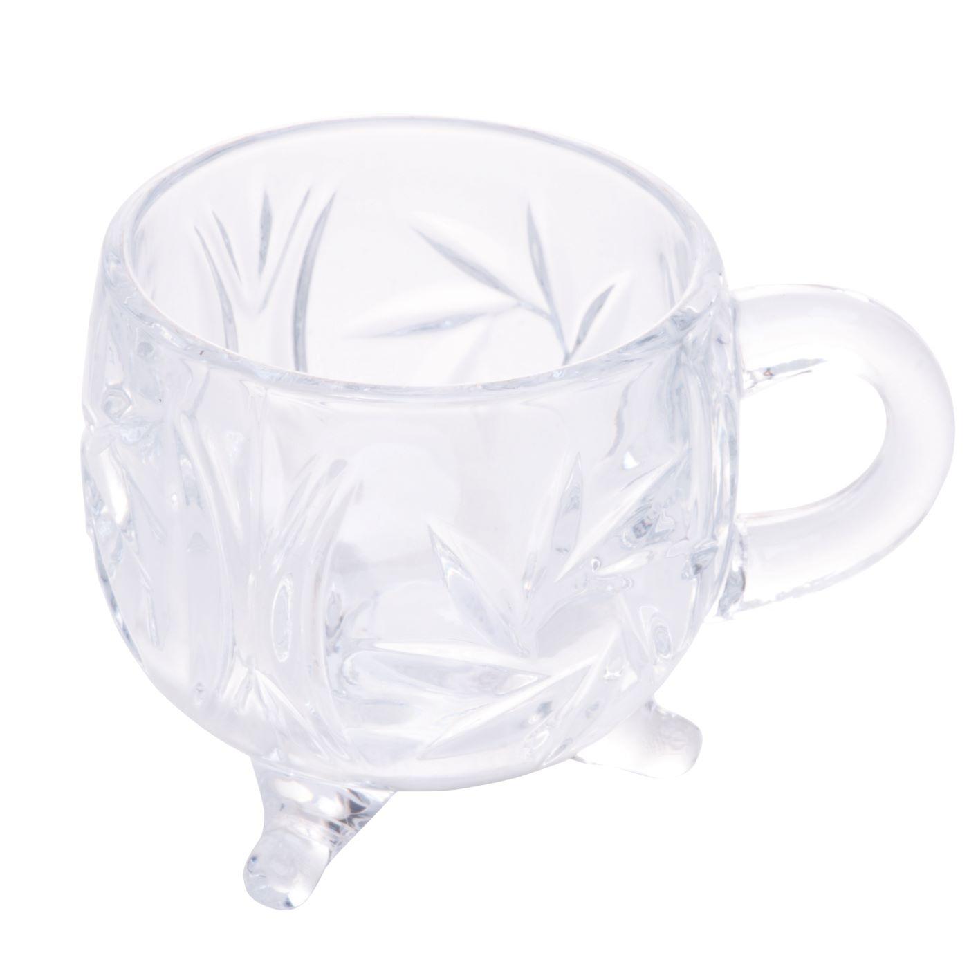 Xicara c/pe de cristal de chumbo prima 135ml