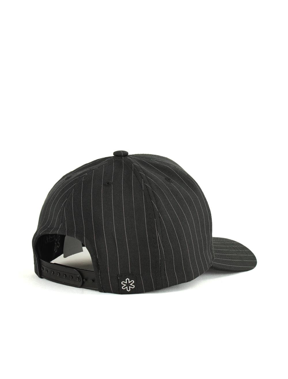Boné Black Pinstripe Preto com Linhas Brancas