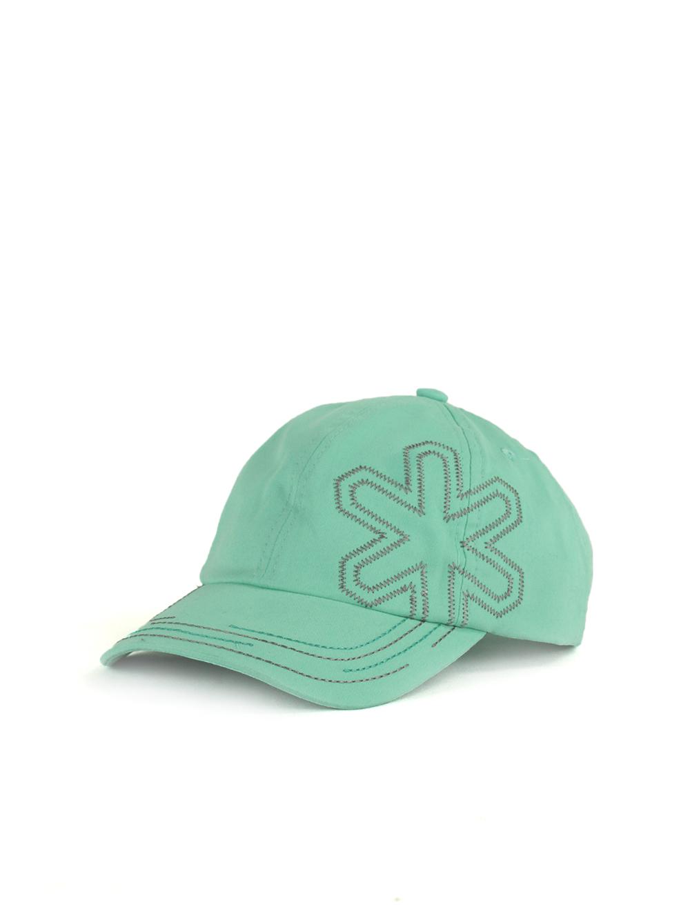Boné Bright Verde Àgua com Bordado Branco