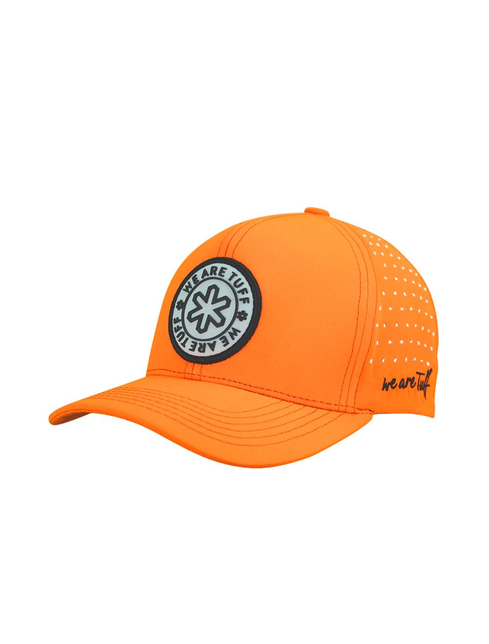 Boné King Laranja com Bordado Logo Tuff