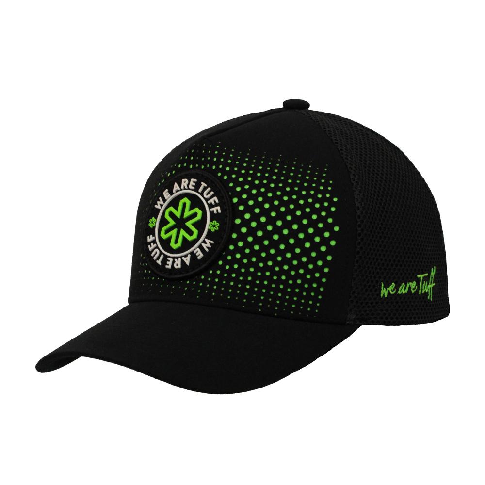 Boné Monster Drill Preto com Logo Verde
