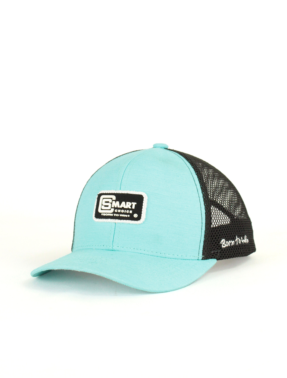 Boné Smart Azul e Preto com Bordado Branco