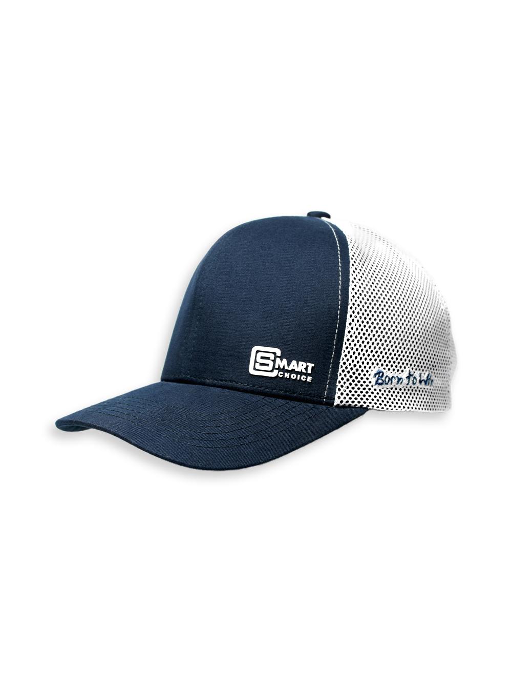 Boné Smart Azul marinho e Branco com Bordado Smart Choice