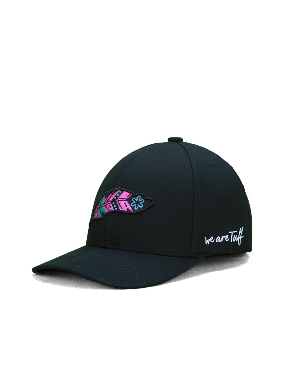 Bone TUFF Pink Feather SMARTFLEX - Preto Logo Preto