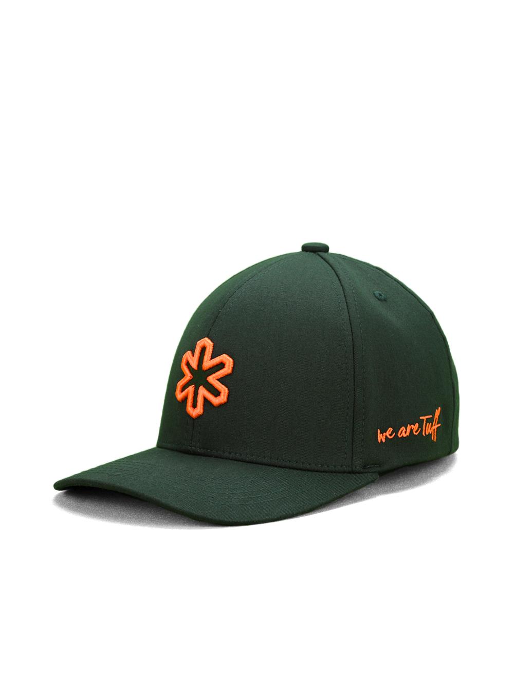 Boné TUFF Wars Flex SMARTFLEX - Verde Logo Laranja