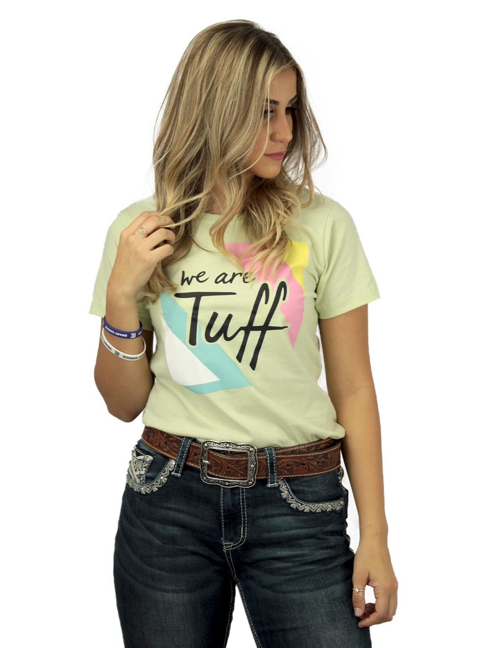 Camiseta Feminina Menta com Silk Colorido