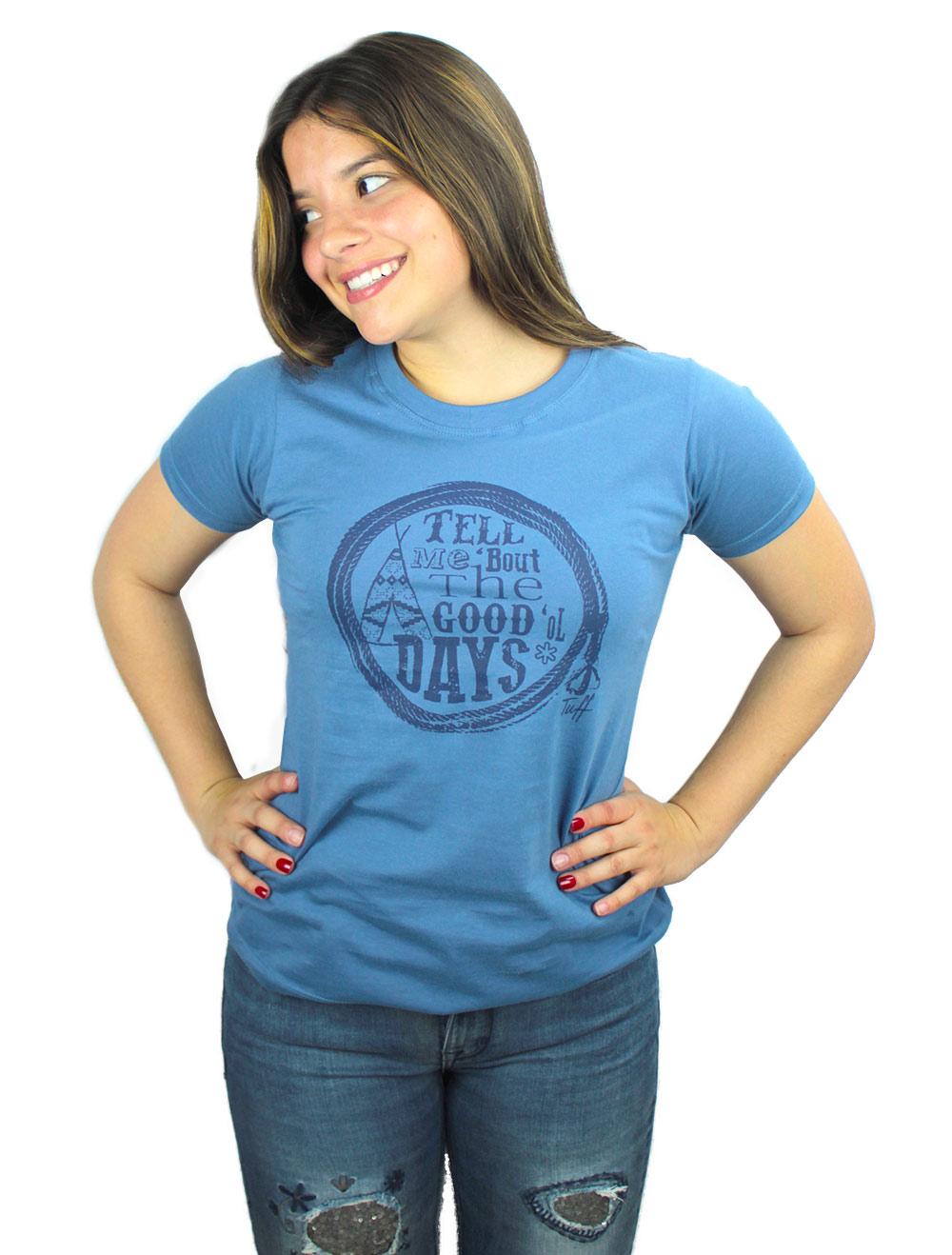 Camiseta Feminina Tuff Azul Silk Marinho