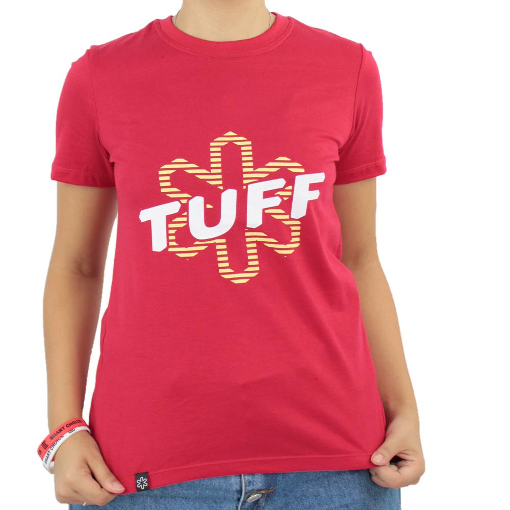 Camiseta Feminina Tuff Vermelha Silk Branco