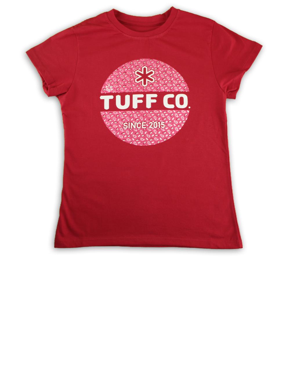 Camiseta Kids Feminina Vemelha Silk Rosa