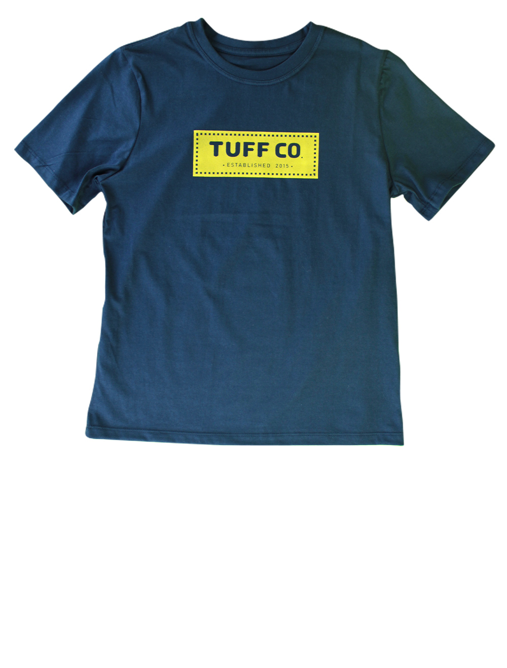 Camiseta Kids Masculina Azul Marinho Silk Amarelo