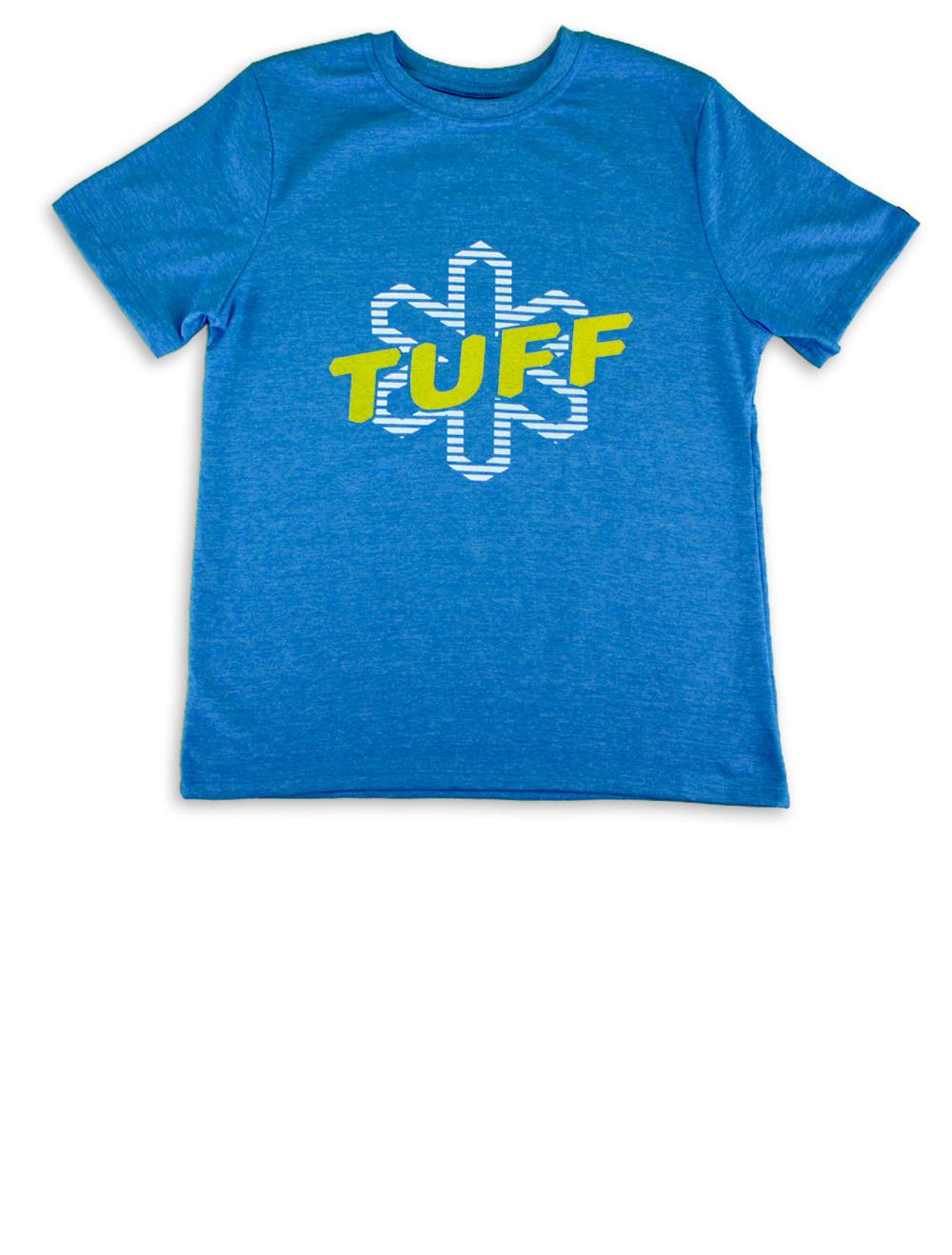 Camiseta Kids Masculina Mescla Azul Silk Amarelo