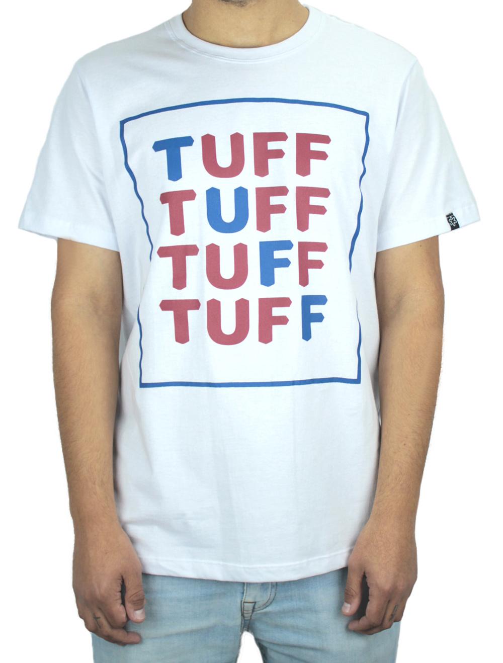 Camiseta Masculina Branca Silk Azul e Vinho