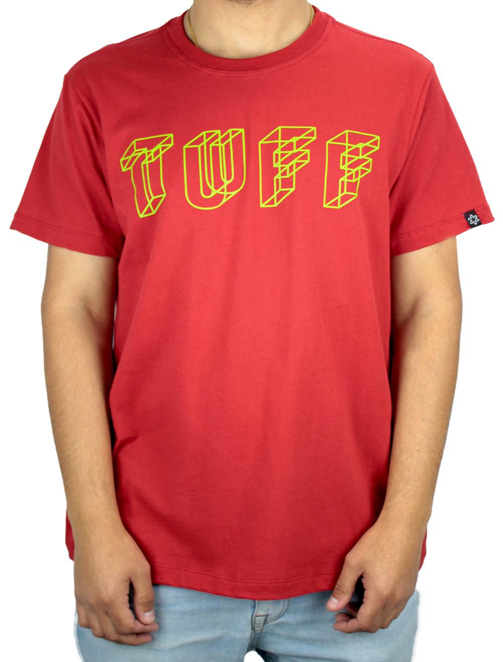Camiseta Masculina Vermelha Logo Verde