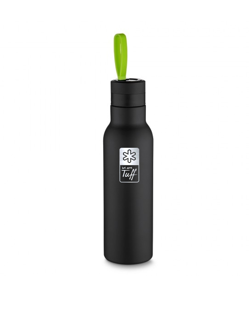 Garrafa Termica Tuff Preta com Alça Verde 500ml