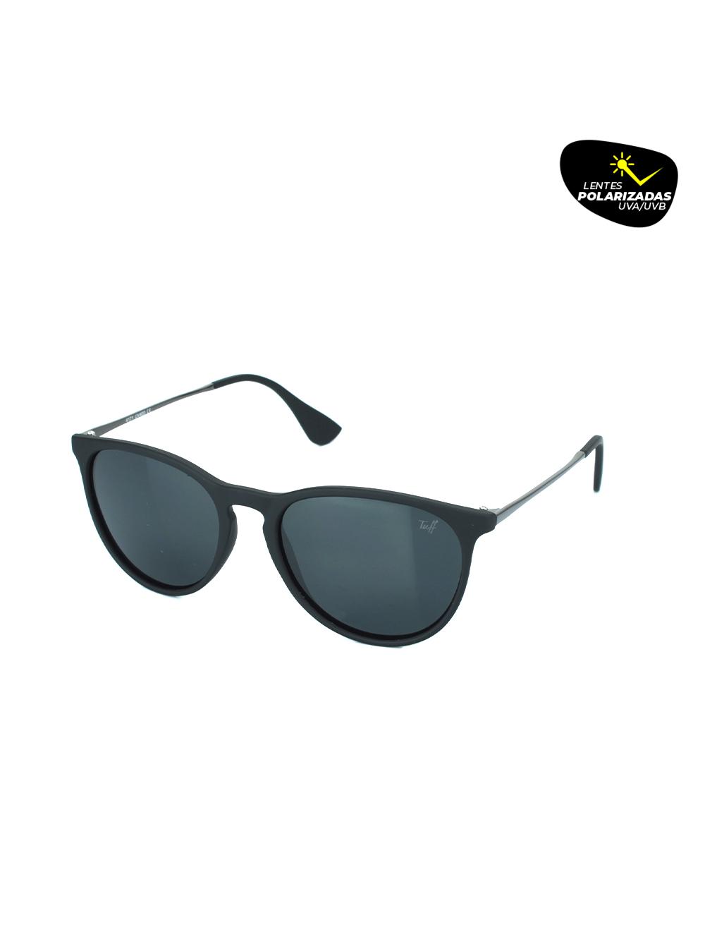Sunglasses Arredondado Preto Polarizado