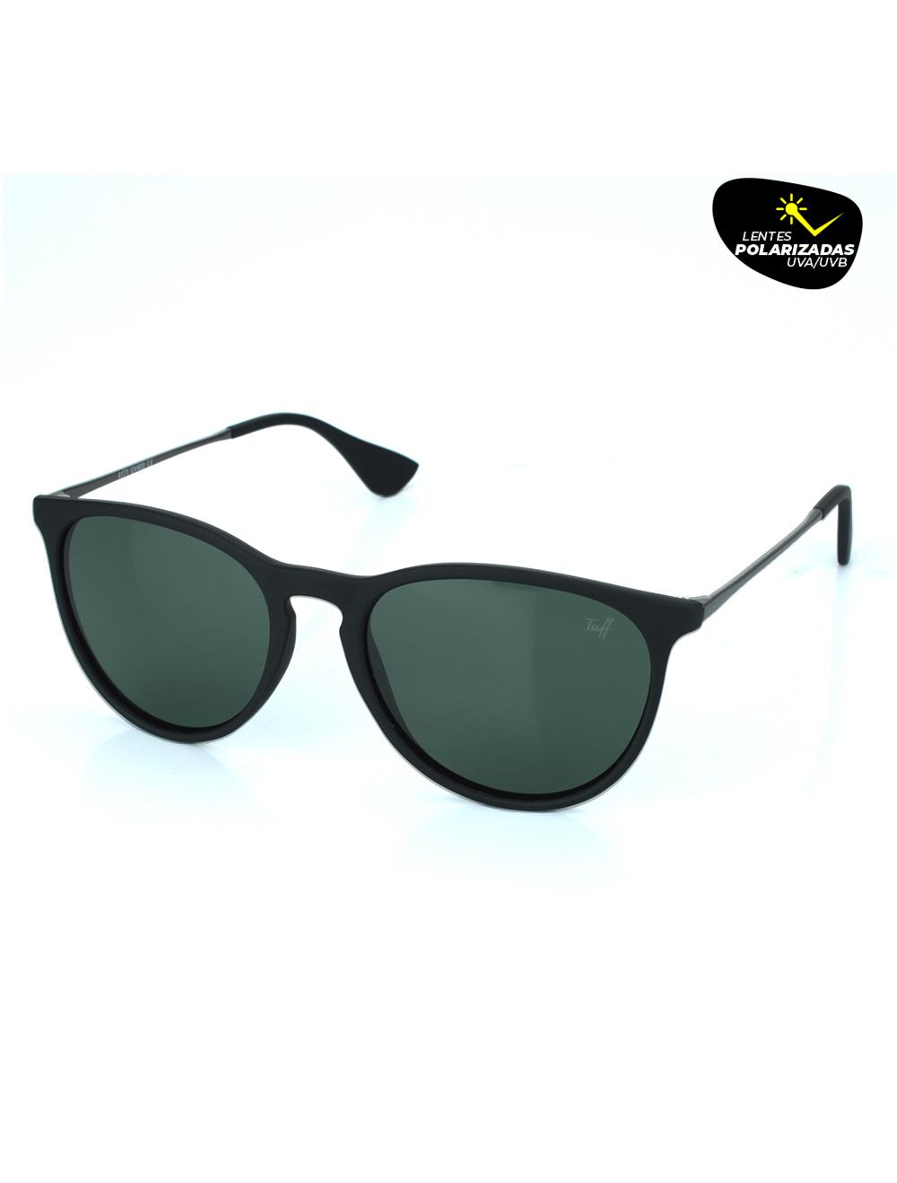 Sunglasses Arredondado Verde com Lente Polarizada