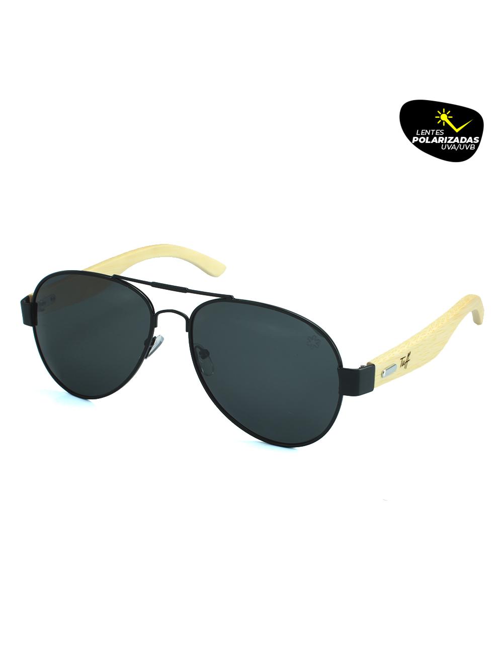 Sunglasses Aviador Preto Polarizado