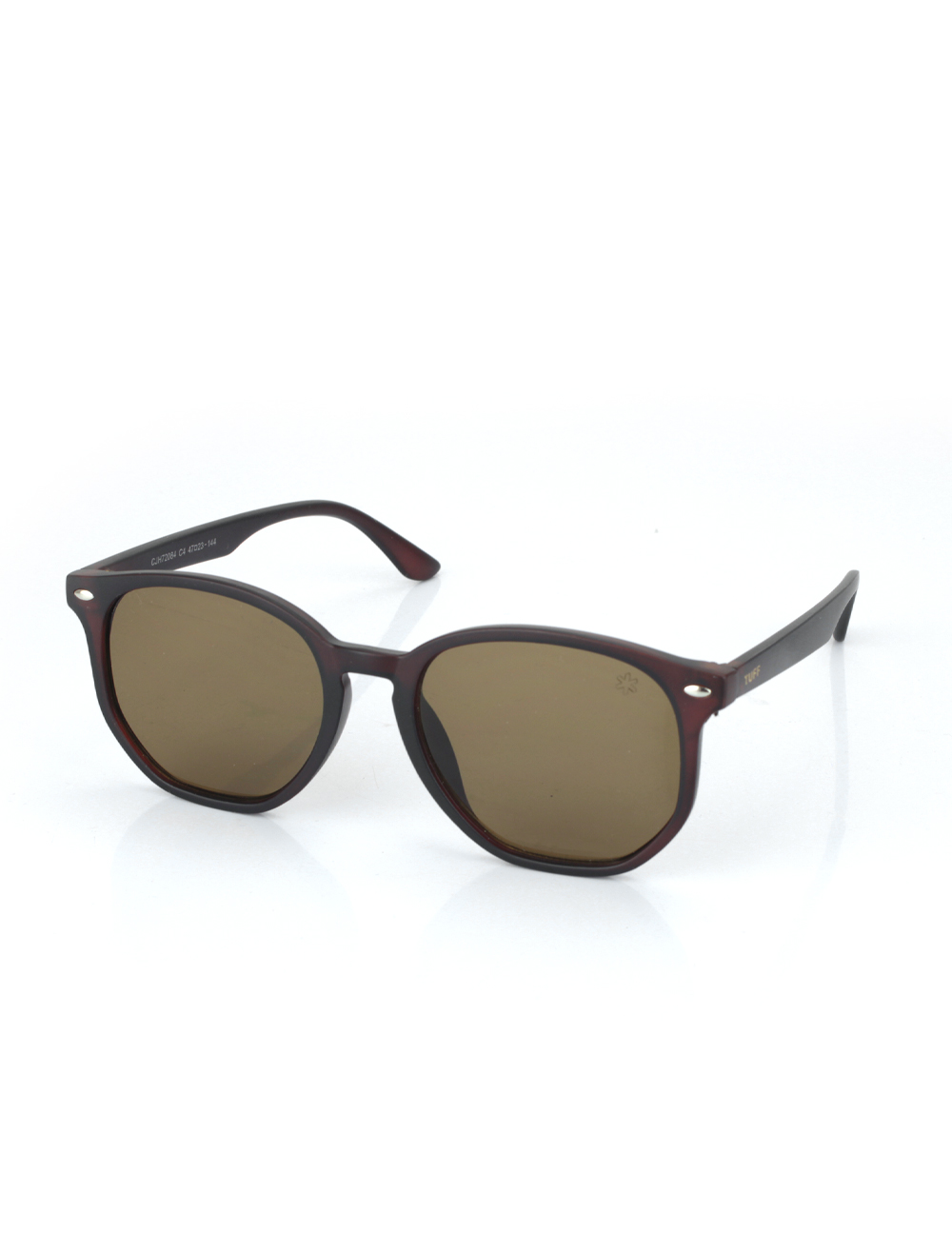 Sunglasses Hexagonal Marrom