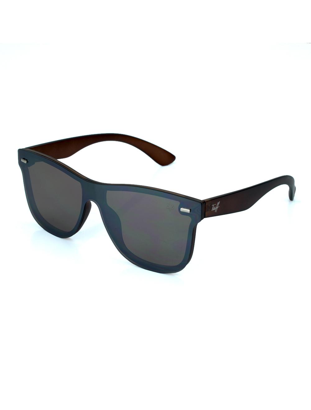 Sunglasses Quadrado Espelhado Marrom