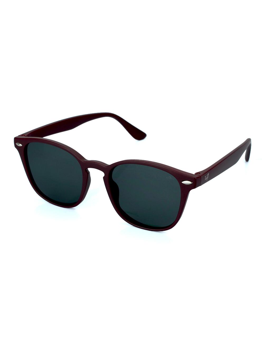 Sunglasses Quadrado Vinho com Lente Preta