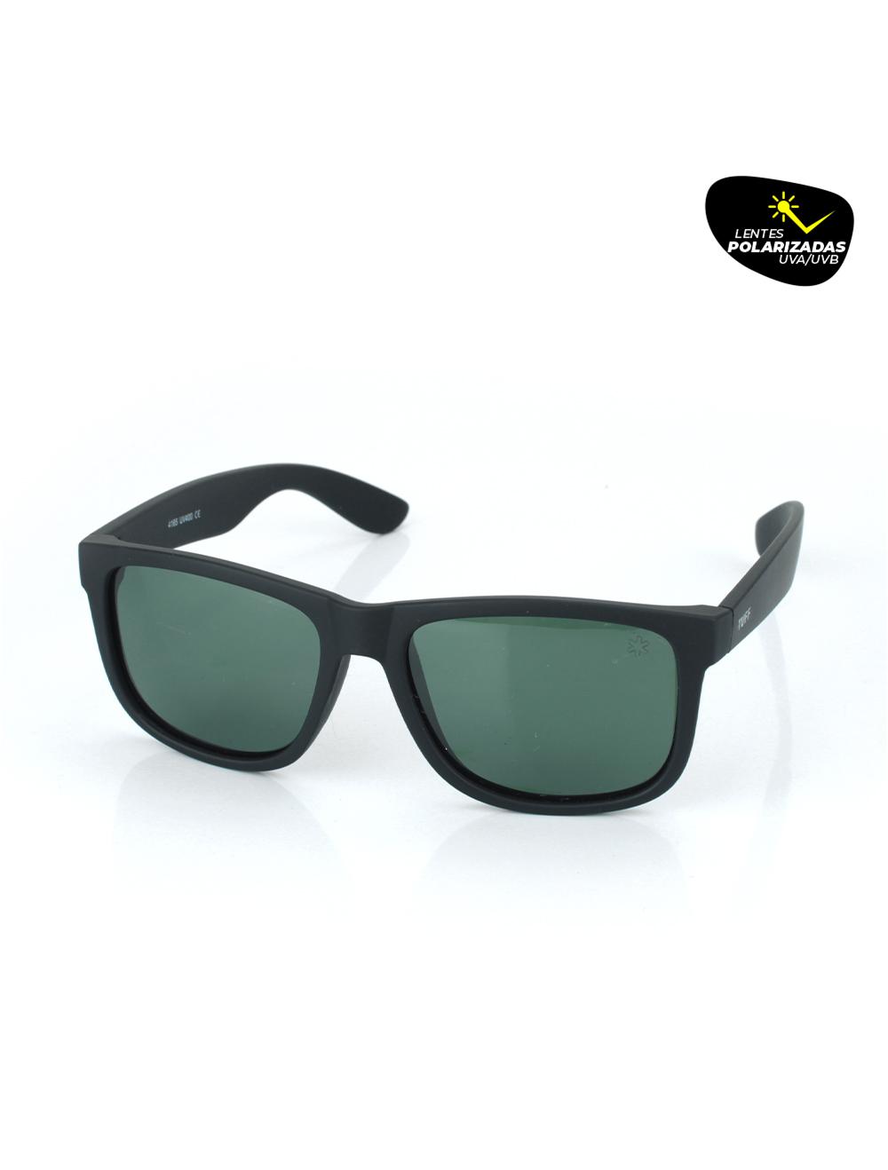 Sunglasses Retangular Verde com Lente Polarizada