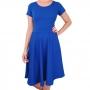 Vestido Midi Godê Moda Evangélica Azul