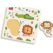 Ache e Encaixe dos Bichos TM P Floresta 4 Peças - Brincadeira de Criança