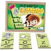 Alfabeto Ilustrado Português 78 Peças - SImque