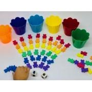 Jogo dos Ursinhos 72 Peças - Materiais para Brincar