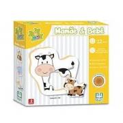 Jogo Educativo Mamãe e Bebê 12 peças - Nig Brinquedos