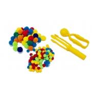 Kit 2 Pinças e Pompons - Materiais para Brincar