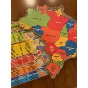 Mapa do Brasil + Brasil em Regiões em Madeira - Maninho Artesanatos