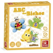 Quebra-Cabeça ABC dos Bichos 52 Peças - Brincadeira de Crainça