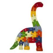 Quebra-Cabeça Dinossauro Letras e Números - Fábrika dos Sonhos