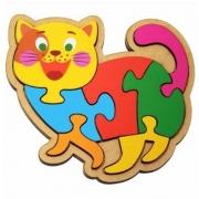 Quebra-Cabeça Gato 7 Peças  Maninho Artesanatos