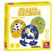 Quebra-Cabeça Sílaba dos Bichos 55 Peças - Brincadeira de Criança