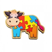 Quebra-Cabeça Vaca 8 Peças – Maninho Artesanatos