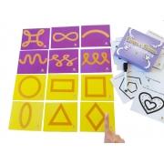 Traços e Formas Texturizados - Materiais para Brincar