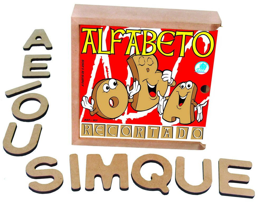 Alfabeto Recortado Pequeno 40 Peças - Simque