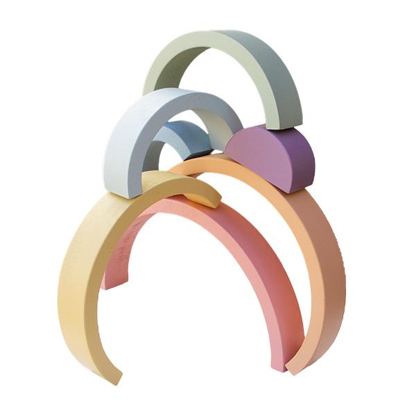 Arco-Iris em Madeira Candy Educativo Waldorf e Decorativo - Fábrika dos Sonhos