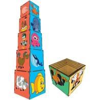 Cubos de Encaixe Animais com 5 Peças - Simque