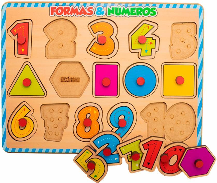 Formas e Números para Encaixar - Maninho Artesanatos