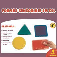 Formas Sensoriais em Gel - Materiais para Brincar
