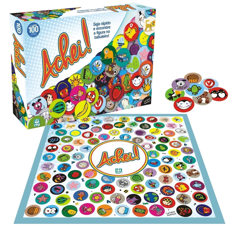 Jogo Achei - C/ 100 Peças - Nig Brinquedos