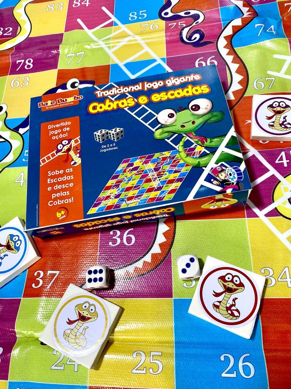 Jogo da Cobra e Escada Gigante - Bate Bumbo