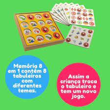 Jogo da Memória 8x1 - Maninho Artesanatos